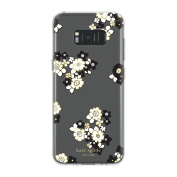 kate spade new york Protective Hardshell Case for Samsung Galaxy S8 Plus - Floral Burst Clear/Cream/Black/Gold/Stones