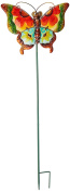 Regal Art & Gift Floral Butterfly Stake, Green