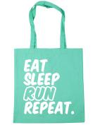HippoWarehouse Eat Sleep Run Repeat Tote Shopping Gym Beach Bag 42cm x38cm, 10 litres