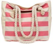 Malirona Women's Canvas Shoulder Bag Beach Bag Rope Handle Handbag Cotton Everyday Purse Casual Bag