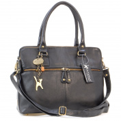 Catwalk Collection Large Shoulder Tote - Victoria - Vintage Leather