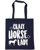 HippoWarehouse Crazy horse lady Tote Shopping Gym Beach Bag 42cm x38cm, 10 litres