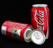 Coca Cola Stash Diversion Safe Can+Free Pack of 1 1/4 Rasta Wrap Model:, Handcrafted from a real Coca Cola Soda Can By Office Supply Store
