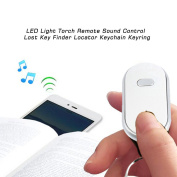 LED Light Torch Remote Sound Control Lost Key Finder Locator Keychain Keyring Intelligent Search Objects