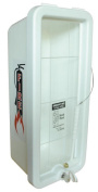Fire Extinguisher Cabinets, White For 4.5kg. Fire Extinguishers Mounting. Hammer-Lock And Key Included.