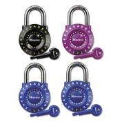 "Set-Your-Own Combination Lock, Steel, 1 7/8"" Wide, Assorted"