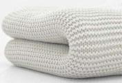 Cuddles Cellular Baby Pram or Cotbed Blanket Grey