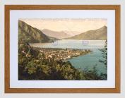 TRAVEL MENAGGIO LANDSCAPE LAKE COMO ITALY BLACK FRAMED ART PRINT B12X7865
