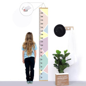 Kids Growth Chart,Bingolar Children height chart growth wall chart height wall chart Art Hanging Rulers for Kids Bedroom Nursery Wall Decor Removable Height and Growth Chart