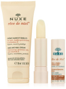 Nuxe Rêve de Miel Discovery Offer Hand and Nail Cream 30ml + Lip Moisturising Stick 4g