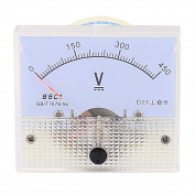 85C1 Pointer Needle DC 0-450V Volt Tester Panel Analogue Voltmeter 65mm x 56mm