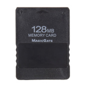 Diawaking 128MB Memory Card Save Game Data Stick for Sony Playstation 2 PS2 128M Black