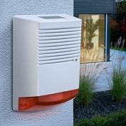 Dummy Alarm Bell Box - Battery Powered Dummy Burglar Alarm Box - Flashing LED - Orange Lens