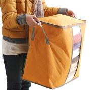 Wanshop Hot storage new practical capacity large storage box portable organiser non-woven bottom bag storage bag(Blue+Green+Orange)