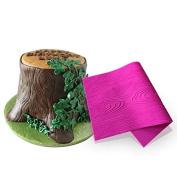 AK ART KITCHENWARE Woodgrain Fondant Impression Mat Silicone Cake Lace Mould Colour Pink BLM-23U