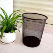 Large Colourful Metal Mesh Waste Paper Basket Rubbish Dust Bin-6 colours