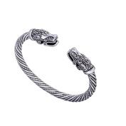 Fashion Indian Wolf Viking Wristband Cuff Bracelet for Men and Women