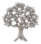 Brooch Boutique Silver Plated Diamante Crystal Tree of Life Brooch Mothers Day Gift Mulberry Tree