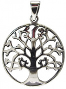 TREE OF LIFE PENDANT 925 Sterling SILVER 26mm Diameter NEW - Celtic Pagan Wicca