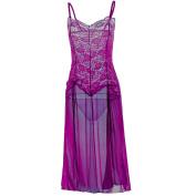 LHWY Fashion Women Lace Sexy Lingerie Dressing Gown Clubwear Long Maxi Dress Nightdress Underwear Nightdress Thong Set