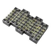 5pcs 600V 25A Dual Row 5 Positions Screw Terminal Electric Barrier Strip Block