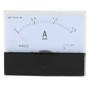 Unique Bargains 44C2 Pointer Needle DC 0-1.5A Current Tester Panel Analogue Ammeter 100mm x 80mm