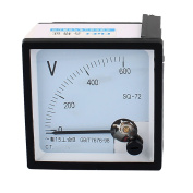 SQ-72 Pointer Needle AC 0-600V Voltmeter Tester Panel Analogue Ammeter 72mm x 72mm