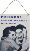 Nicola Spring Hanging Metal Vintage Wall Plaque - Friends
