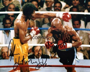 LIMITED EDITION HAGLER v HEARNS SIGNED PHOTOGRAPH + CERT PRINTED AUTOGRAPH