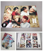 BTS Bangtan Boys - 12 PHOTO POSTERS(42cm x 30cm ) + 1 STICKER + 5 Photos