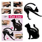 haosshop 5 Sheets Black Cat Eyeliner Stencil Smokey Eyeshadow Makeup Eyeliner Models Template Shaper Tools