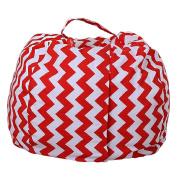 Sisit Kids Stuffed Animal Plush Toy Storage Bean Bag Soft Pouch Stripe Fabric Chair Practical Convenient Universal bag Perimeter:1.4m/140cm