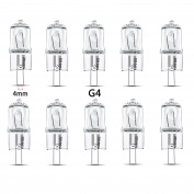 qobobo® 10 x G4 Halogen Light Bulb Capsule Lamp, 20Watt, Warm White, 12V