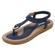 Dragon868 Summer Shoes Leather Woman Sandals, Bohemia Comfortable Anti Slip Soft Bottom Flat Women Slippers Sandals Plus Size