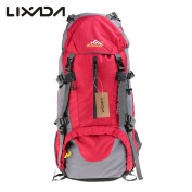 Hiking Backpack Lixada 50L Waterproof Lightweight Trekking Rucksack for Outdoor Sport Travel Cycling Climbing Mountaineer Climbing with Rain Cover