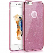 EUWLY iPhone 7 Plus/8 Plus Case,iPhone 7 Plus/8 Plus Glittery Silicone Protective Case Cover Bling Bling Shining Silicone TPU Case for iPhone 7 Plus/8 Plus Men Women Girl Ultra Slim Thin Electroplating Shock Resistant Scratch Resistant Soft Gel TPU Bum ..