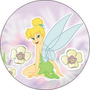 Disney Fairies Tinker Bell Flowers Button B-DIS-0059