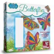 Sand & Sequin Glitter Butterflies Picture Art & Craft Kit Girls Gift Ideas Stocking Fillers Birthday Christmas Ideas
