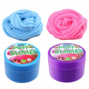 CCINEE Fluffy Slime, 210ml Assorted (2 Packs, Blue +Pink)Putty Floam Slime Play Stress Relief Toy , No Sticky Fluffy Slime floam for Kids and Adults