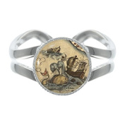 Vintage Style Sea Monsters Silver Plated Adjustable Ring in Gift Box