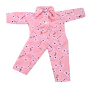 huichang New Design Pyjamas Nightgown Clothes for 46cm Our Generation American Girl Doll