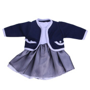 huichang Lovely Pleated Dress With Jacket For 46cm Our Generation American Girl Doll