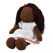 One Dear World 32cm Soft Rag Doll - African Natural Hair Girl Hope with Removable Clothes for Toddlers and Young Children