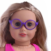 Doll Glasses ,HARRYSTORE Stylish Plastic Round Frame Glasses Sunglasses for American Girl Our Generation Doll
