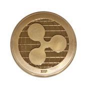 SSEELL Gold Plated Ripple Decorative Coin Collectible Gift XRP Coin Art Collection Physical
