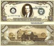 Novelty Dollar 41st President George H W Bush Dollar Bills X 4