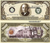 Novelty Dollar 33rd President Harry S Truman Million Dollar Bills X 4