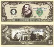 Novelty Dollar 3rd President Thomas Jefferson Million Dollar Bills X 4