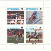 Seoul, South Korea 1988 Summer Olympics - 4 sports stamps issued 1988 / Union Islands / MNH