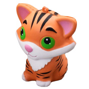 Cute Kawaii Soft Squishy Cartoon Animal Toy Slow Rising for Children Adults Relieves Stress Anxiety Home Decoration Sample Model Tiger Style